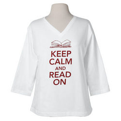 Lady's Keep Calm and Read On Ladies T-Shirt