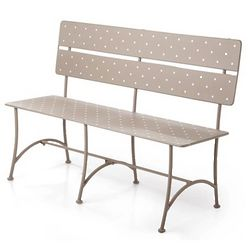Polka Dot Indoor or Outdoor Iron Bench