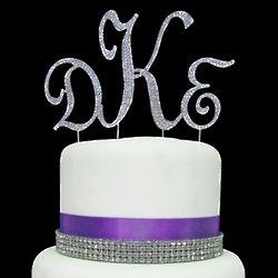 Rhinestone Cake Initials