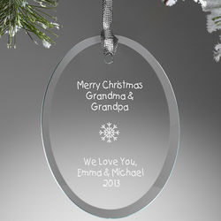 Create Your Own Personalized Oval Ornament
