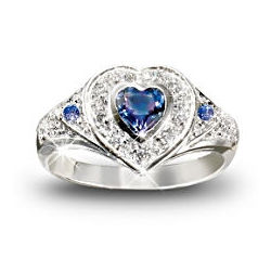 True Heart Tanzanite and Diamond Ring
