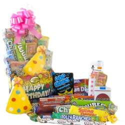 Birthday Celebration Retro Candy Basket