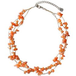'Natural Spectacular' Pearl and Carnelian Strand Necklace