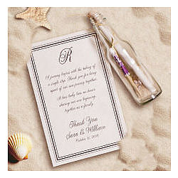 A Personalised Wedding Gift Message : Personalized Message in a Bottle Wedding Favor - FindGift.com