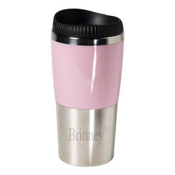 Retro Pink Stainless Steel Tumbler