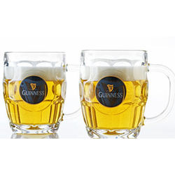 Guinness Dimple Beer Mugs