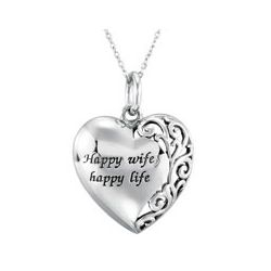 Happy Wife, Happy Life Necklace
