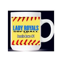 Personalized Softball Coach or Player Mug