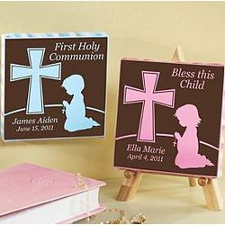 Personalized Praying Child Mini Canvas with Easel