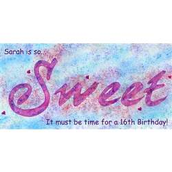 """Personalized """"Sweet"""" Poster"""