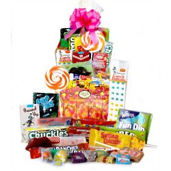 Floral Retro Candy Basket
