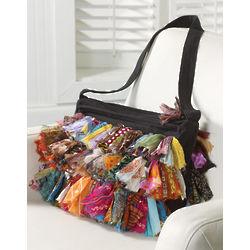 Recycled Sari Ruffles Handbag