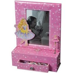 Ballerina Jewelry Box with Photo Frame and Drawer
