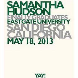 Personalized Yay Grad Green Wall Art
