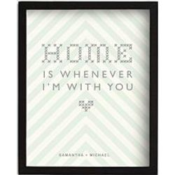 Personalized Romantic Home is Framed art