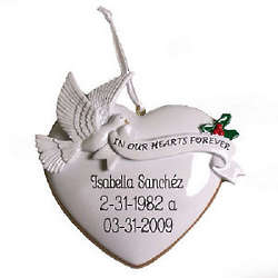Personalized In Our Hearts Forever Ornament