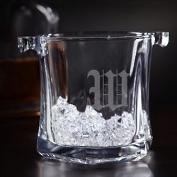 Just Chilled Personalized Glass Ice Bucket