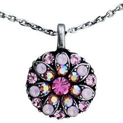 Pink Guardian Angel Swarovski Crystal Necklace