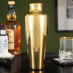 Monogrammed Fairfield Gold Cocktail Shaker