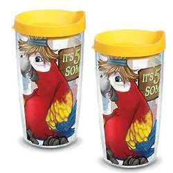 It's 5 O'Clock Somewhere Parrot 16 Oz. Tervis Tumbler With Lid