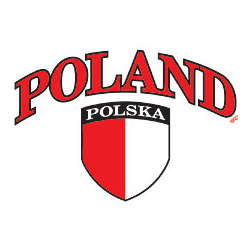 Poland Flag Crest Adult T-Shirt