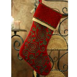 Christmas Sparkle Embroidered Stocking