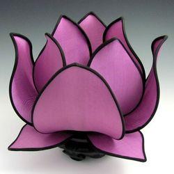 Blooming Lotus Jewel Tone Silk Table Lamp
