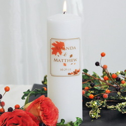 Fall Wedding Personalized Unity Candle