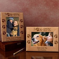 Personalized Paw-rific Dog Wooden Picture Frame