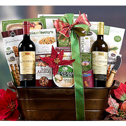 Conundrum Red and White Wine Assortment Gift Basket