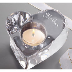 Personalized Crystal Candle Holder