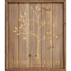 Personalized Family Tree Wood Sign