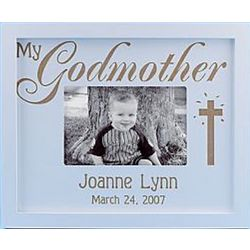 My Godmother Personalized Wood Frame