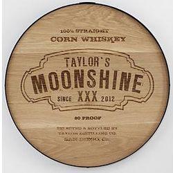 "Personalized 20"" Moonshine Liquor Barrel Sign"