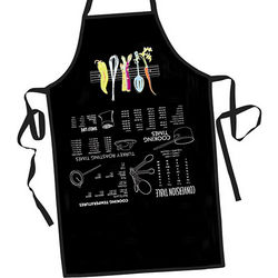 Kitchen Tips Apron in Black