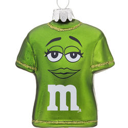 Personalized Green M&Ms T-Shirt Christmas Ornament