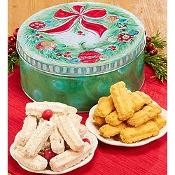 Holiday Cheese and Cranberry Straws Tin
