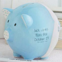 Blue Piggy My First Bank
