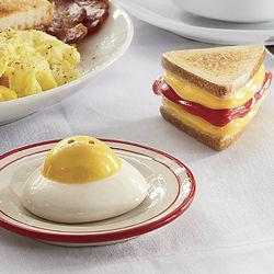 Egg and Sandwich Salt and Pepper Shaker Set