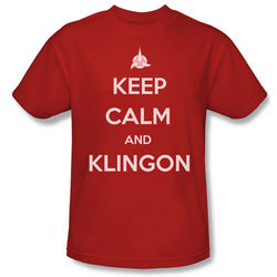 Star Trek Keep Calm and Klingon T-Shirt