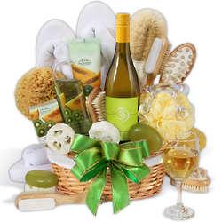 Premium Spa and Wine Gift Basket