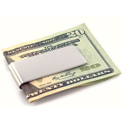 Engraved Stainless Steel Money Clip
