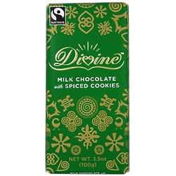 Divine Milk Chocolate Bar with Spiced Cookies