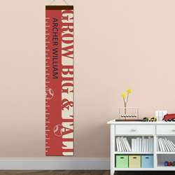 Personalized Big and Tall Baseball Growth Chart
