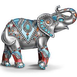 Elephant Figurine in Southwestern Designs