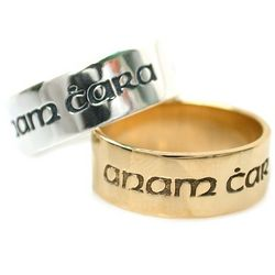 'Anam Cara' Soul Friend Poesy Ring in Sterling Silver