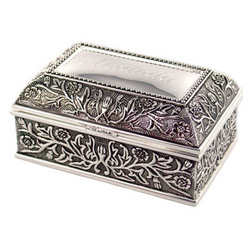Personalized Floral Rectangular Jewelry Box