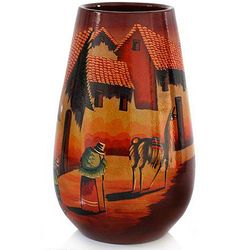 The Streets of Cuzco Ceramic Vase