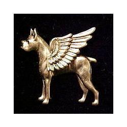 Boxer Guardian Angel Dog Pin