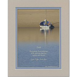 Retirement Poem Personalized Boat Print